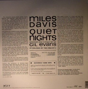 miles davis quiet nights back